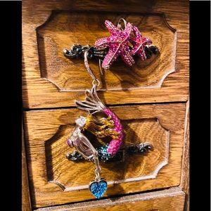 Betsey Johnson mermaid earrings 🧜♀️